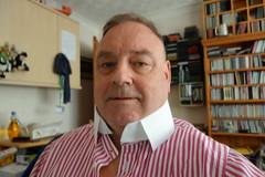 a warm day (rabinal) Tags: white instructions collar stiff undone