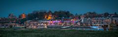 night skyline (stevefge (away travelling)) Tags: panorama netherlands night nijmegen landscape evening nederland nederlandvandaag reflectyourworld