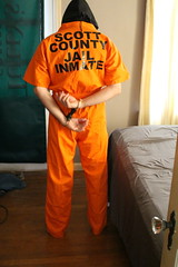 IMG_7823 (bob.laly) Tags: uniform chain jail shackles padlock handcuffs prisoner jumpsuit inmate