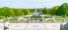 Panorama view of the park (wpc302) Tags: park sculpture tree oslo norway vigeland