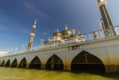 Crystal Mosque at Terengganu (Md Farhan's Gallery) Tags: travel sky cloud holiday canon river landscape eos asia sigma mosque 1020mm terengganu rivercruise 600d