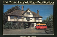 The Oxted to Lingfield Royal Mail Postbus . Crowhurst Place , Lingfield , Surrey . (AndrewHA's) Tags: bus post mail royal pb maidstone minibus commer rootes oxted lingfield
