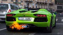 Spittin' Flames (Romek Rudnicki) Tags: city cars car fire nikon flames poland polska spot exotic warsaw nikkor lamborghini centrum supercar warszawa exhaust roadster carspotting carporn d90 aventador