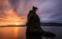 Siwash rock Sunset with the Canon 5DSR (PIERRE LECLERC PHOTO) Tags: travel sunset sea urban canada nature silhouette landscape outdoors island bc britishcolumbia exploring seawall pacificocean stanleypark siwashrock westcoast seastack dicover vancouvercity pierreleclercphotographycanon5dsr
