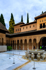 The Alhambra, Granada - Palacios Nazares - Palacio de los Leones - Patio de los Leones (Court of the Lions), looking south-east (peripathetic) Tags: building beauty architecture canon buildings spain worldheritagesite espana alhambra moorish granada 5d palaces 2016 nasrid nazaries 5dmkiii 5dmk3 canoneos5dmk3