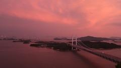 Twilight Bridge /  Great Seto Bridge (maco-nonchR) Tags: bridge sky lights evening manual noediting  setonaikai setoohashi  allmanual afterheavyrain bisinesstrip