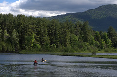 Canoeists on the Ausable (rochpaul5) Tags: canoe adirondack whiteface adk