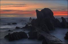 Amanecer (antoniocamero21) Tags: costa color puente foto sony girona amanecer cielo catalunya brava rocas larga exposicin canyet rosamar