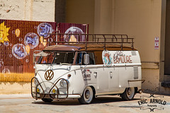 The Cookie Bus (Eric Arnold Photography) Tags: vegas roof bus window vw magazine volkswagen graffiti mural shoot grafitti panel lasvegas nevada low nv commercial ladder van split academy camper lowered feature roofrack splitty logoed
