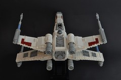 T-65 X wing (5) (Inthert) Tags: star starwars fighter ship lego luke r2d2 xwing wars skywalker moc t65 sfoils