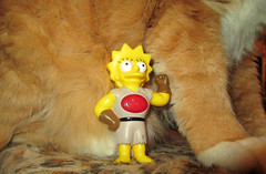 20150502 - yardsale haul - yard sale booty - Oranjello & Lisa Simpson action figure - IMG_0319