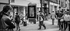 Music attracting some interest. (steve.gombocz) Tags: street urban bw music blackwhite noiretblanc zwartwit leeds streetphotography olympus streetmusic blacknwhite greyscale streetphotos noirblanc urbanstreet negroyblanco bwphotos svarthvitt mustavalkoinen negroblanco neroebianco blackwhitephotos schwartzweiss nerobianco sortoghvid olympususers olympusdigitalcamerausers olympuszuikodigitalclub svartochvitt schwartzundweiss svartoghvitt flickrbw bwflickr olympuscamerausers olympusm25mmf18 olympusmzuiko25mmf18lens olympusem5mark2 czarnyibiaty micro43rdsuk flickrblackwhitephotos