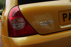 LY 182 Renault Sport Badge (AcidicDavey) Tags: yellow clio renault liquid 182 renaultsport