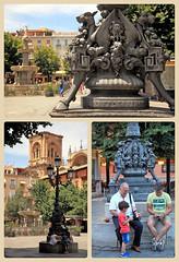 Plaza de Bib-Rambla, Granada, Andalucia, Espana (claude lina) Tags: claudelina espana spain espagne andalucia andalousie granada grenade ville town architecture plaza plazabibrambla fontaine fountain lampadaires
