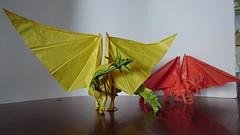 Kamiya, Ancient Dragon (Jorge.Gracia) Tags: kamiya satoshi ancient dragon origami complex papiroflexia