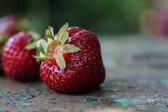 a good fruit (kinaaction) Tags: fruit food strawberries red redfruit sweet juicy sonyilce6000 bokeh