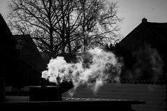 black day (pascal.dickhoff) Tags: dark darkness smoke chimney smog contrast day sun daylight outdoor bw mono monochrome