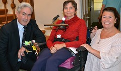 Meeting day respite guest Sheila Hardie at Leuchie House