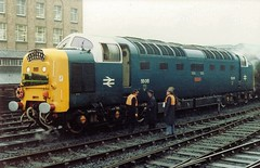 55015 at Newcastle, 2nd January 1982 (colin9007) Tags: english electric type 5 class 55 napier deltic newcastle