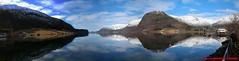 Hornindalsvatnet - Hornindal - Panorama (soyouz) Tags: geo:lat=6196748519 geo:lon=652393012 geotagged grods hornindal nor norvge sognogfjordane lac montagne neige panorama paysage hornindalsvatnet norvegela