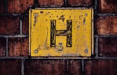 H (Mr Clicker / Davin) Tags: mr clicker davin brick wall hydrant sign h