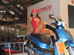 sexy promoter - better than best (themax2) Tags: eicma milano hostess girl 2005 tagme legs boots upskirt minidress