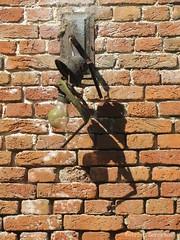 Detail (katrienberckmoes) Tags: detail wall old farm broken lamp
