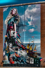 Queen of the sea (ericbaygon) Tags: tag graffiti paint peinture mur brique brick vivid color couleur vlissingen holland paysbas hollande d300s nikon nikonpassion town street ville rue faade urbain urban
