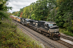 Daylight Freight (Nick Gagliardi) Tags: train trains railroad new york southern tier campbell hall graham line port jervis branch norfork freight h08 c409w sd60e union pacific