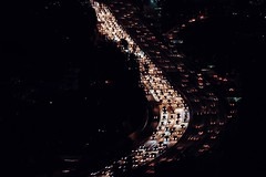Trout traffic at the 101 River.  (redshutterbugg) Tags: urbanlights city 101 nightphotography love fujifilm fujifilmxseries fujifilmxworld 500px losangelesatnight nightshots discoverla