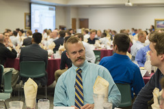 Hire Me and My Mustache (aaronrhawkins) Tags: mustache job dinner recruiting stem fair byu brighamyounguniversity electricalengineering table crowd smile recruit conversation wilkinsoncenter dougwalton aaronhawkins student college university company hire meal