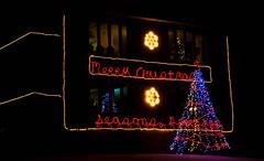 Friendly Neighbours (beverlyks) Tags: christmas christmaslights christmasdecorations citystreets thunderbayontariocanada