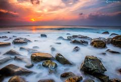 6 Seconds (kijimuna.) Tags: sunset sea seascape beach rock japan canon wave  okinawa      eos6d