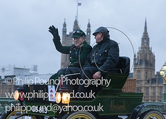 London to Brighton Veteran Car Rally-22 (Philip Pound Photography) Tags: london cars photographer rally harrods historic passengers veteran oldcars professionalphotographer drivers westminsterbridge traditionaldress londontobrighton motorcar veterancars carrally lbvcr philippound bs8113 philippoundphotography londontobrightonveterancarrallyphoto carrallyphoto