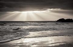 Guernsey Seascape (Marc Dyke Guernsey) Tags: light sun seascape water reflections photography islands golden rocks marc rays sands dyke guernsey channel