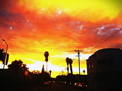 Sunset 10/30/2014 #LosFeliz Hillhurst Ave.