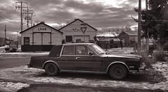 Old School Industrial (Sherlock77 (James)) Tags: snow calgary car dodge chrysler industrialshop