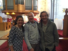Taken at Christ Church Cathedral, Nelson, NZ. Georgette with Bp. Richard Ellena of the Anglican Nelson Dio and Bp. Justin Duckworth, Bp of the Anglican Dio of Wellington, NZ. Yes, he has dreadlocks!