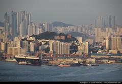 Looking east from Busan Tower, Busan, South Korea (JH_1982) Tags: city urban tower skyline cityscape looking view south n korea east busan sur aussicht sud pusan core corea  sdkorea  urbanity     haeundaegu