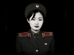 North Korean Soldier , North Korea (Matt.O'Grady) Tags: travel portrait woman color colour cute sexy girl square army clothing war uniform asia kim feminine military squareformat jolie guide beret 2008 adultsonly oneperson northkorea uniforme ideology axisofevil pyongyang eastasia dprk juche armymuseum lookingatcamera seduisante oneyoungwomanonly dictature koreanpeninsula unepersonne juchesocialistrepublic rdpc insidenorthkorea northkoreanarmy
