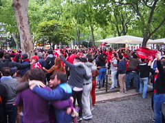Here Benfica just won The liga, 2 hours later The streets of Lisbon just went mental with hundreds of thousand people celebrating The win.