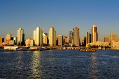 Port of San Diego @ Sunset (Per@vicbcca (Thanks for over 1Mill Views!)) Tags: california usa sandiego 50mmf14 mswesterdam d700