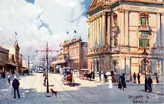 Tuck's Oilette of Queen Street, Brisbane, Australia - early 1900s (Aussie~mobs) Tags: raphaeltucksons postcard vintage brisbane queensland oilette coloured queenstreet streetscape aussiemobs