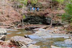 Deep Pool Bridge (mikerhicks) Tags: usa fall geotagged photography unitedstates hiking tennessee milo bonham cumberlandtrail springcity tennesseestateparks pineyriver cumberlandtrailstatepark sigma18250mmf3563dcmacrooshsm deeppoolbridge canoneos7dmkii geo:lat=3569279667 geo:lon=8492286833 duskincreek lowerpineyriversection pineyriversegment