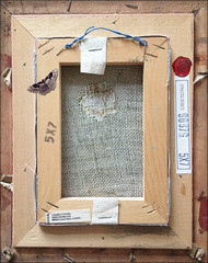 canvas counterfeit ( piktorio) Tags: wood berlin texture germany framed canvas creation photomontage rearview flipside repaired counterfeited piktorio