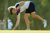 Charley Hull of England marks her ball on the 15th green during the first round (Ladies European Tour) Tags: dubai uae unitedarabemirates hullcharleyeng
