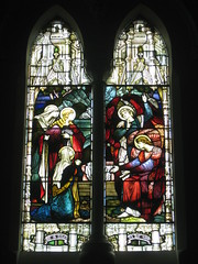 The John Pigdon Memorial Stained Glass Window of the Marys and two Angels of the Lord at Jesus' Tomb; St Jude's Church of England - Corner of Lygon, Palmerston and Keppel Streets, Carlton (raaen99) Tags: building window glass architecture angel religious memorial carlton mary religion gothic 19thcentury wing victorian feathers australia melbourne stainedglass victoria victoriana bible 1860s virginmary stainedglasswindow biblical marymagdalene anglicanchurch lygonstreet nineteenthcentury lygonst 1890s 1892 gothicarchitecture placeofworship gothicchurch 1866 churchofengland gothicbuilding 1867 stjudes gothicstyle keppelstreet keppelst melbournearchitecture gothicrevivalarchitecture religiousbuilding kingjamesbible gothicrevivalstyle melbournesuburbs stjudesanglicanchurch palmerstonst gothicstainedglass gothicstainedglasswindow gospelofmatthew gothicrevivalbuilding inmemorandum reedbarnes architecturallydesigned gothicrevivalchurch reedandbarnes brooksrobinsonco gothicdetail stjudescarlton stjudeschurchofengland brooksrobinsonandco brooksrobinsoncompany johnpigdon carltonchurchofengland carltonanglicanchurch brooksrobinsonandcompany johnpigdonmemorialwindow
