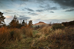 Roseberry Topping From the South (ben_thedriver) Tags: morning blue winter england sky orange cloud sun cold colour film grass skyline clouds contrast sunrise canon walking landscape eos golden landscapes early high still rocks warm raw quiet durham natural farm yorkshire naturallight sharp h