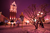 Christmas Eve (5AAAAM) Tags: park christmas xmas winter white snow cold tree art season landscape fun landscapes cool nikon christ nightshot snowy walk korea fancy themepark nightscapes everland d90 nikond90