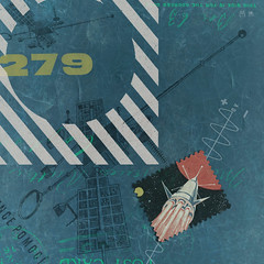 Cover : Irregular Frequency Mystery Stream Dec 2014 : No. 279 (Howdy, I'm H. Michael Karshis) Tags: blue podcast art radio texas stripes space satellite 9 stamp stereo cover if rocket trippy 27 signal roofing artdirection ironstone frequency irregular creativedirector 279 hmkarchive mysterystr